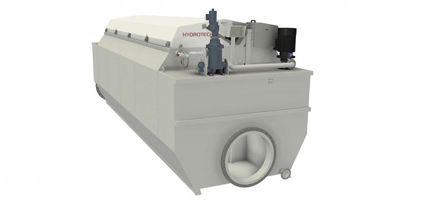 Patented mechanical self-cleaning drumfilter for municipal and industrial recovery water applications.
