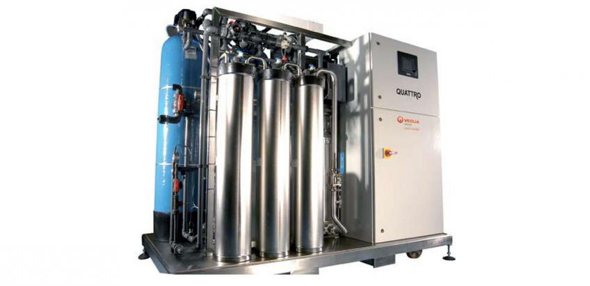 Multi-technology solution supplying high-flow pure water for industrial and healthcare applications.