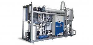 Industrial evaporators with high concentration ratios and separation for industrial and process water treatment.